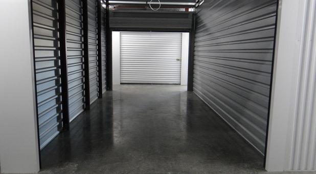 Inside of a self storage unit in Glenpool, OK