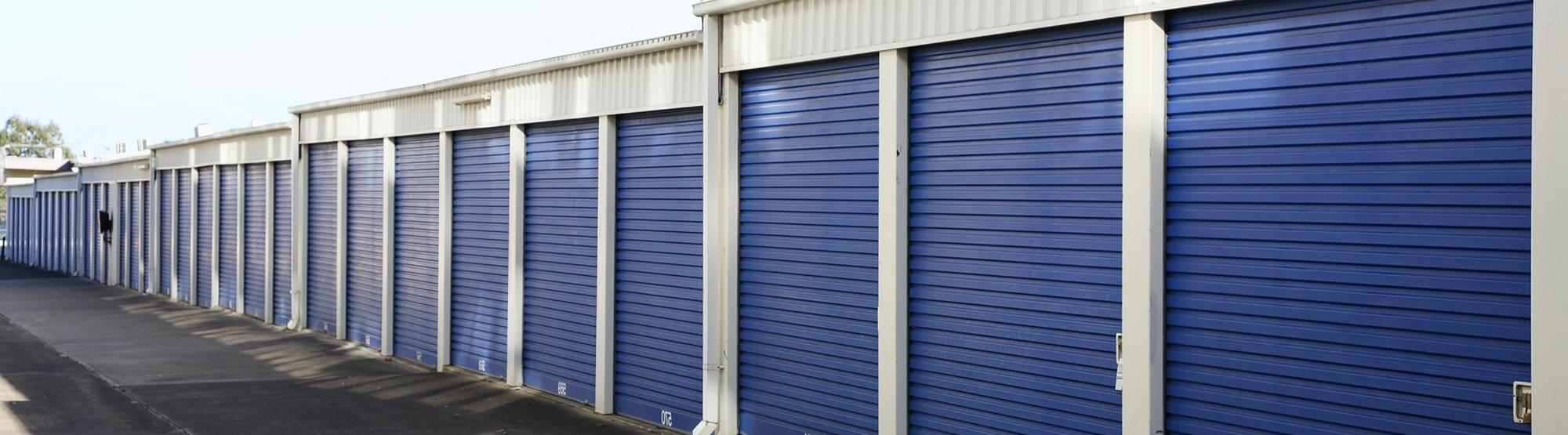 Rows of storage units in Cypress, TX
