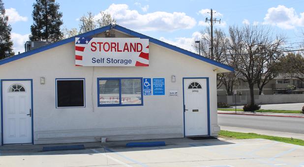 Storland Self Storage Reedley office entrance