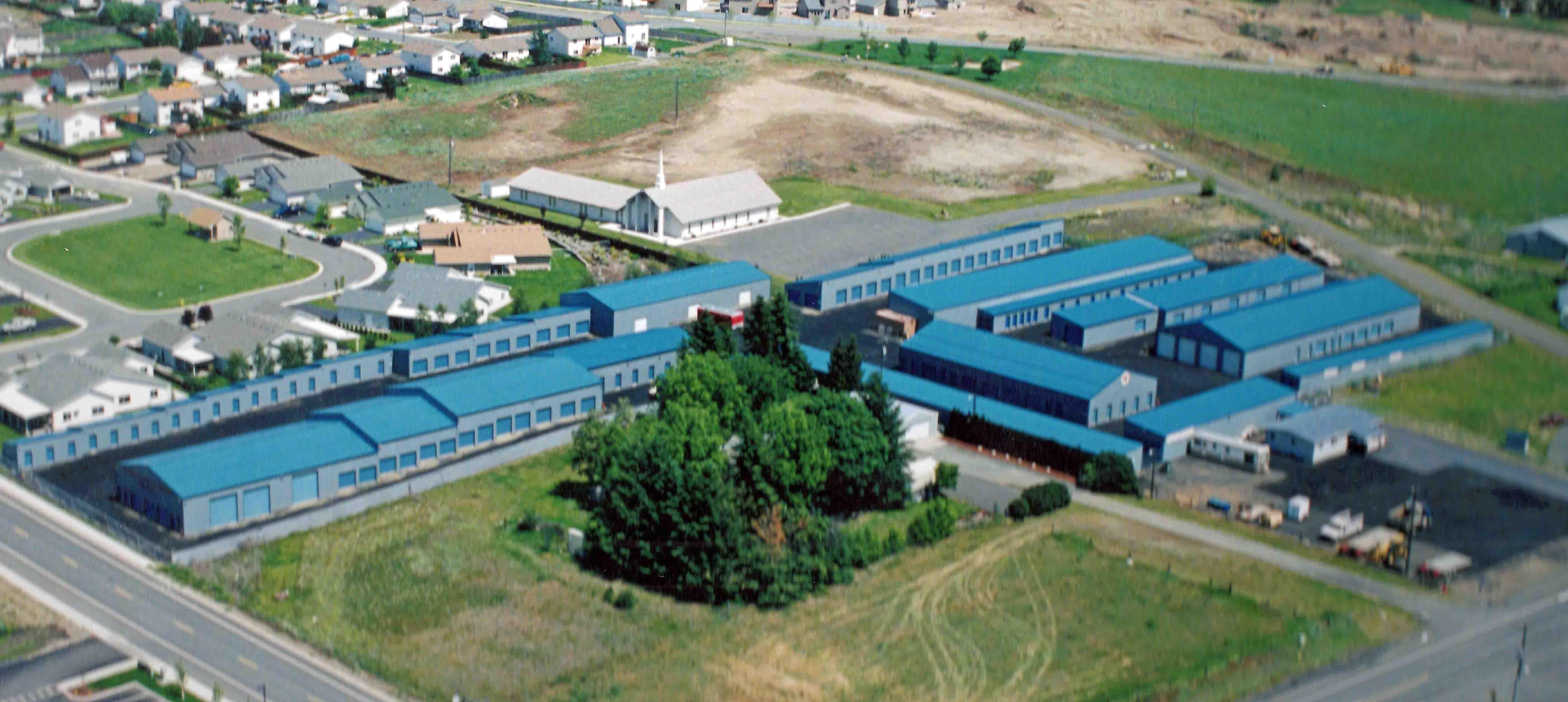 aerial view of Monark Mini Warehouse