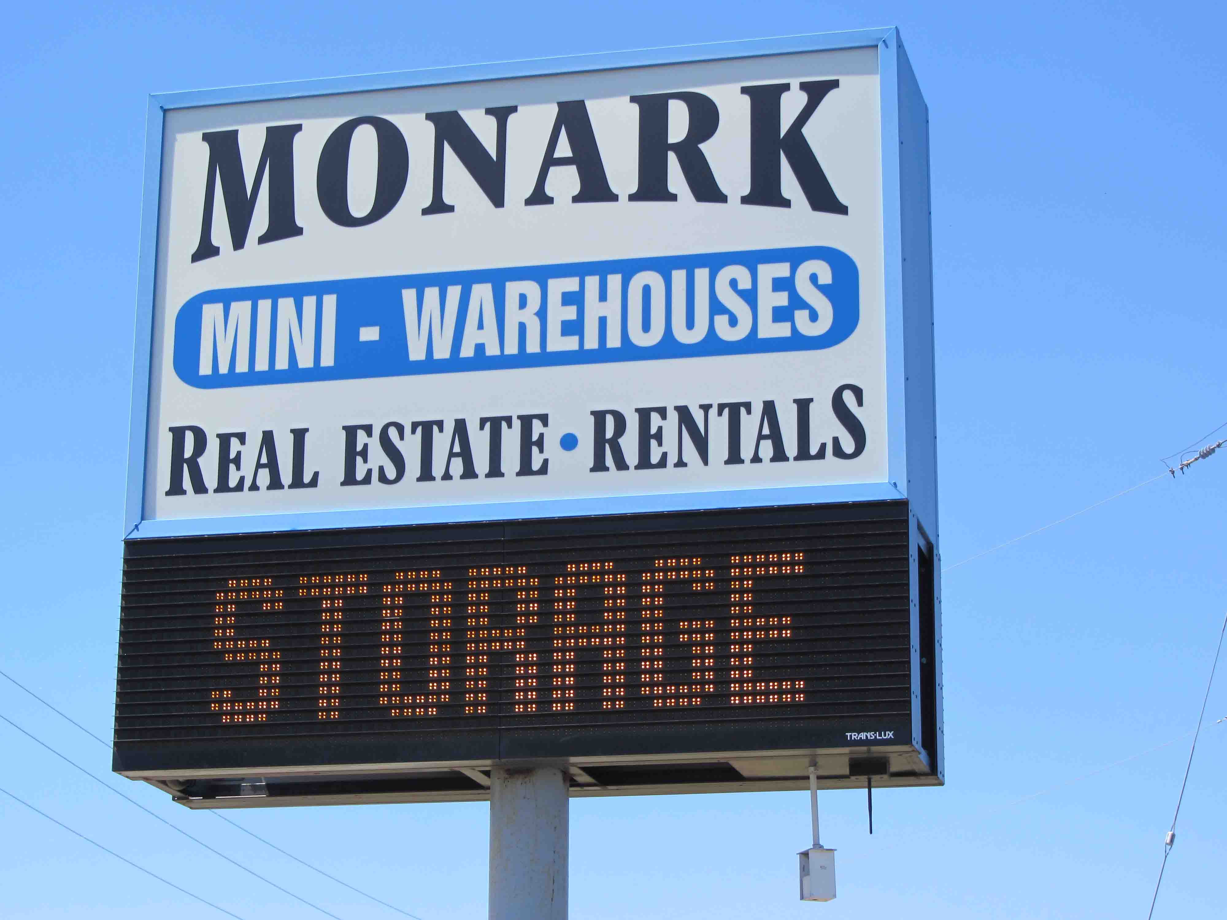 Monark Mini-Warehouses sign