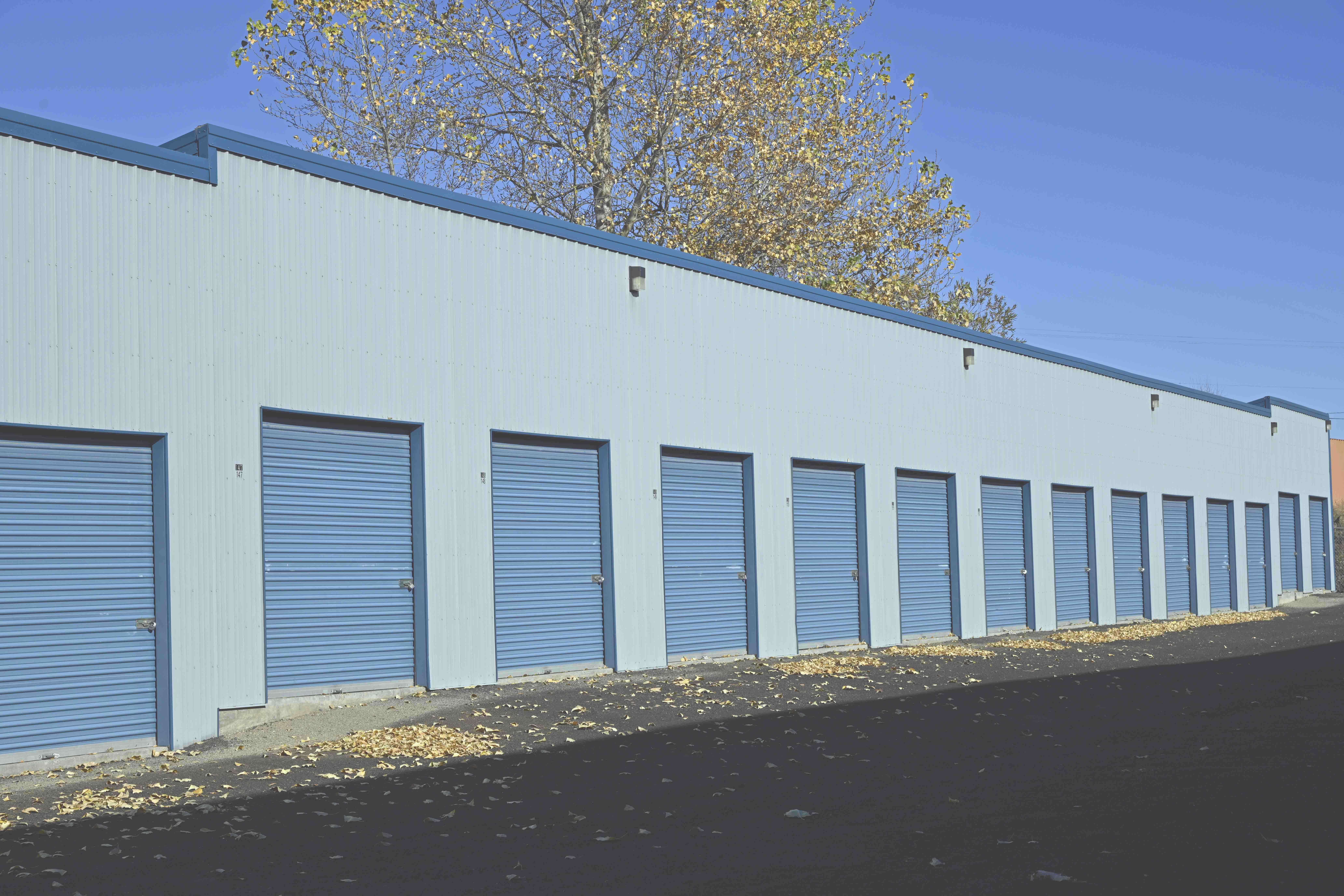 close up of exterior storage units