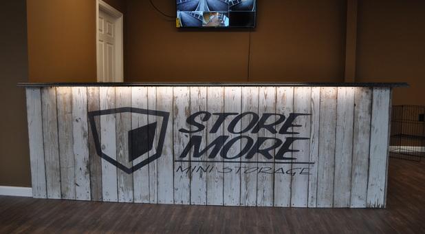 Store More Mini Storage counter area