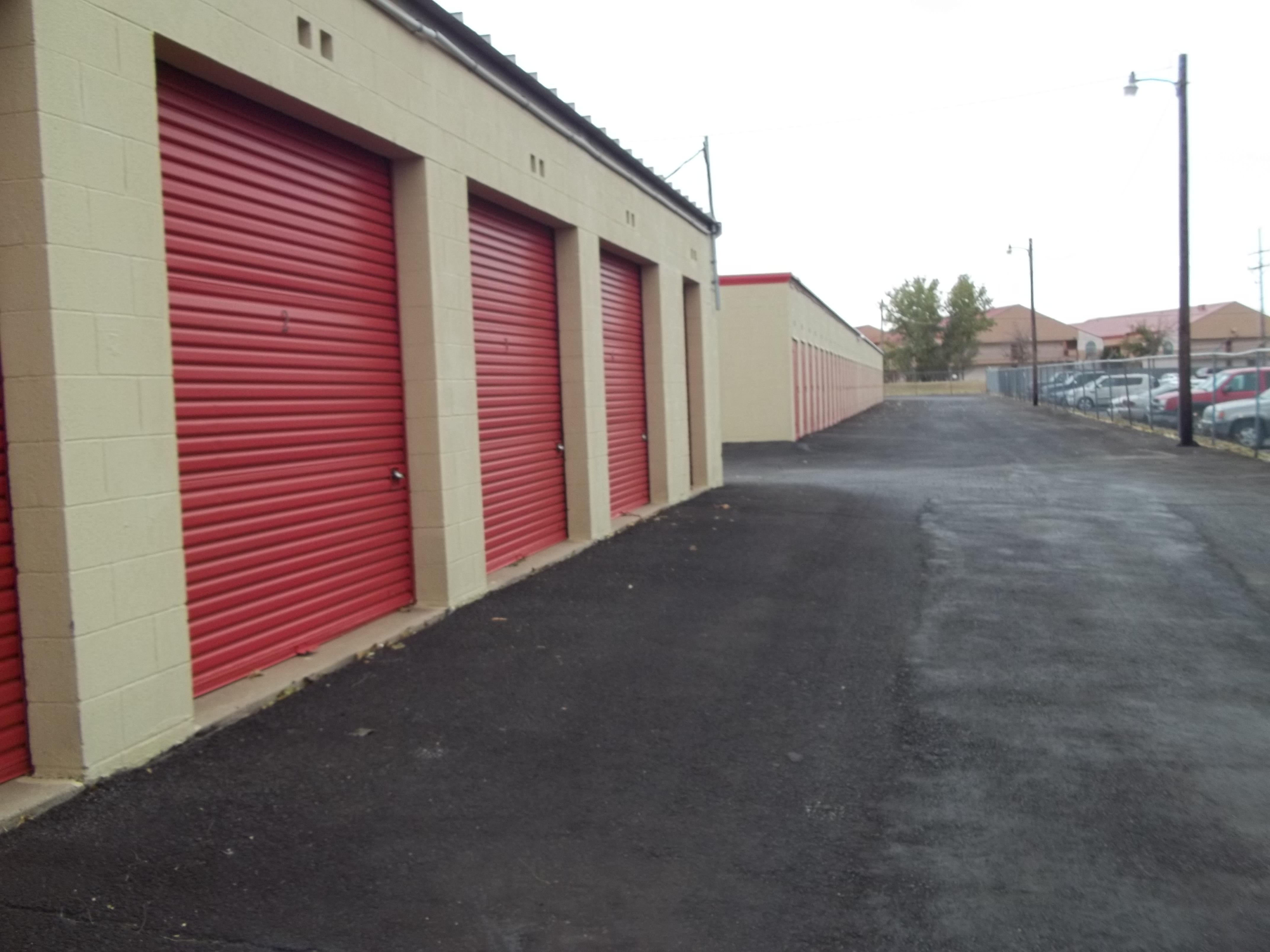 Line of Storage Units in Amarillo, TX