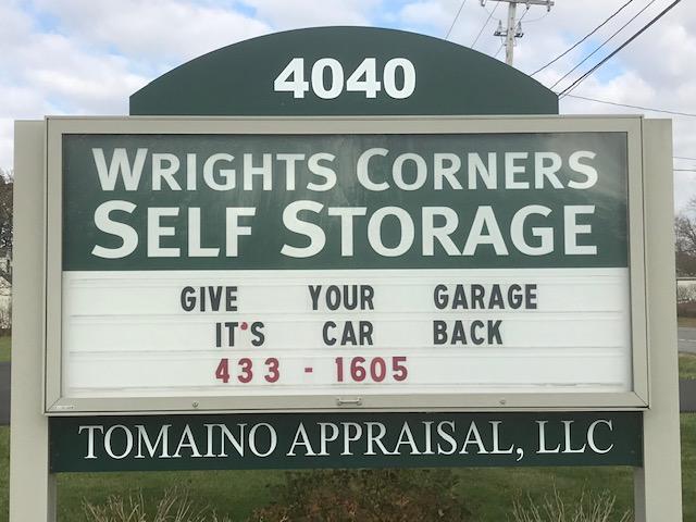 Wrights Corners Self Storage Sign