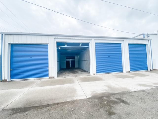 large storage unit with door open
