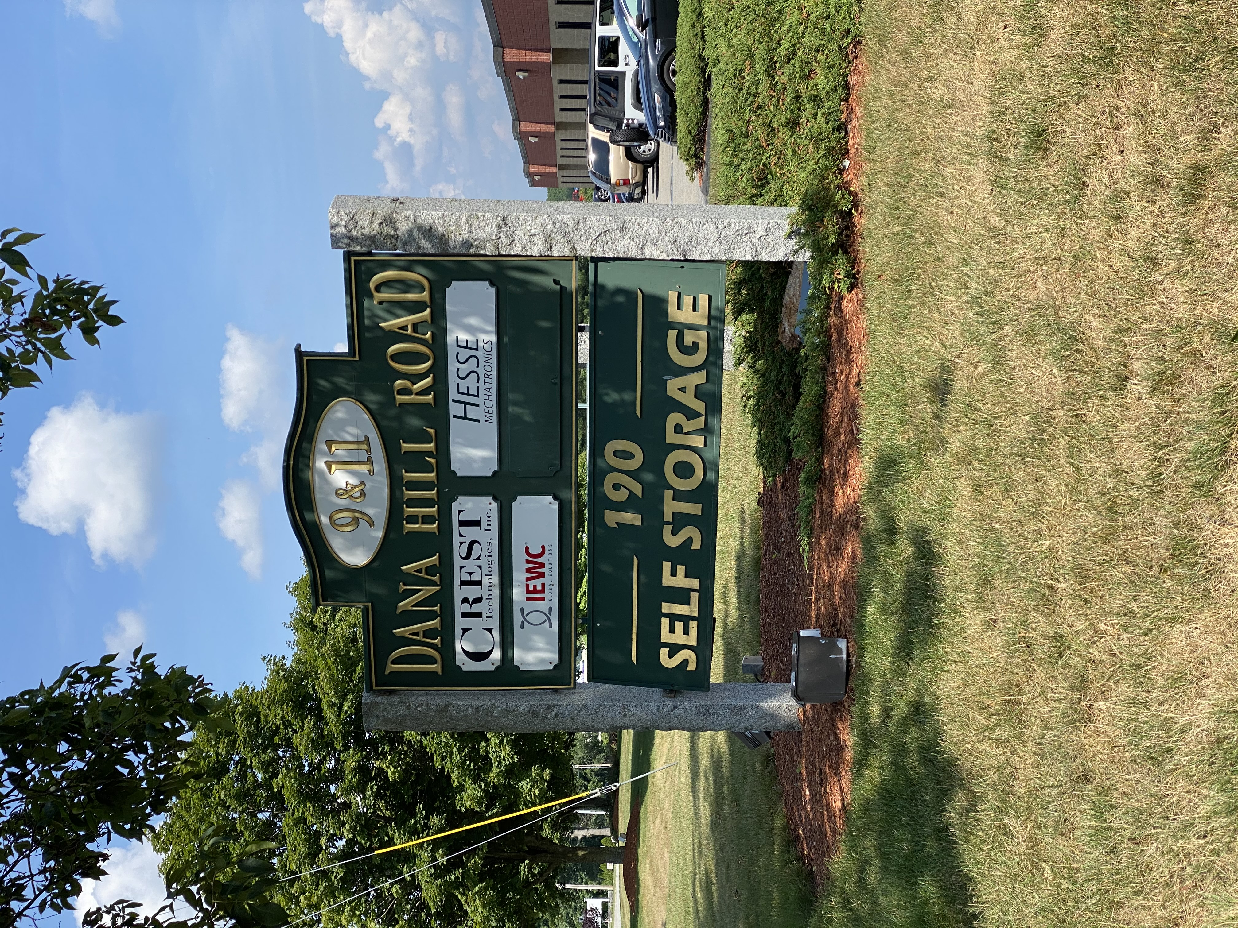 190 Storage Road Sign
