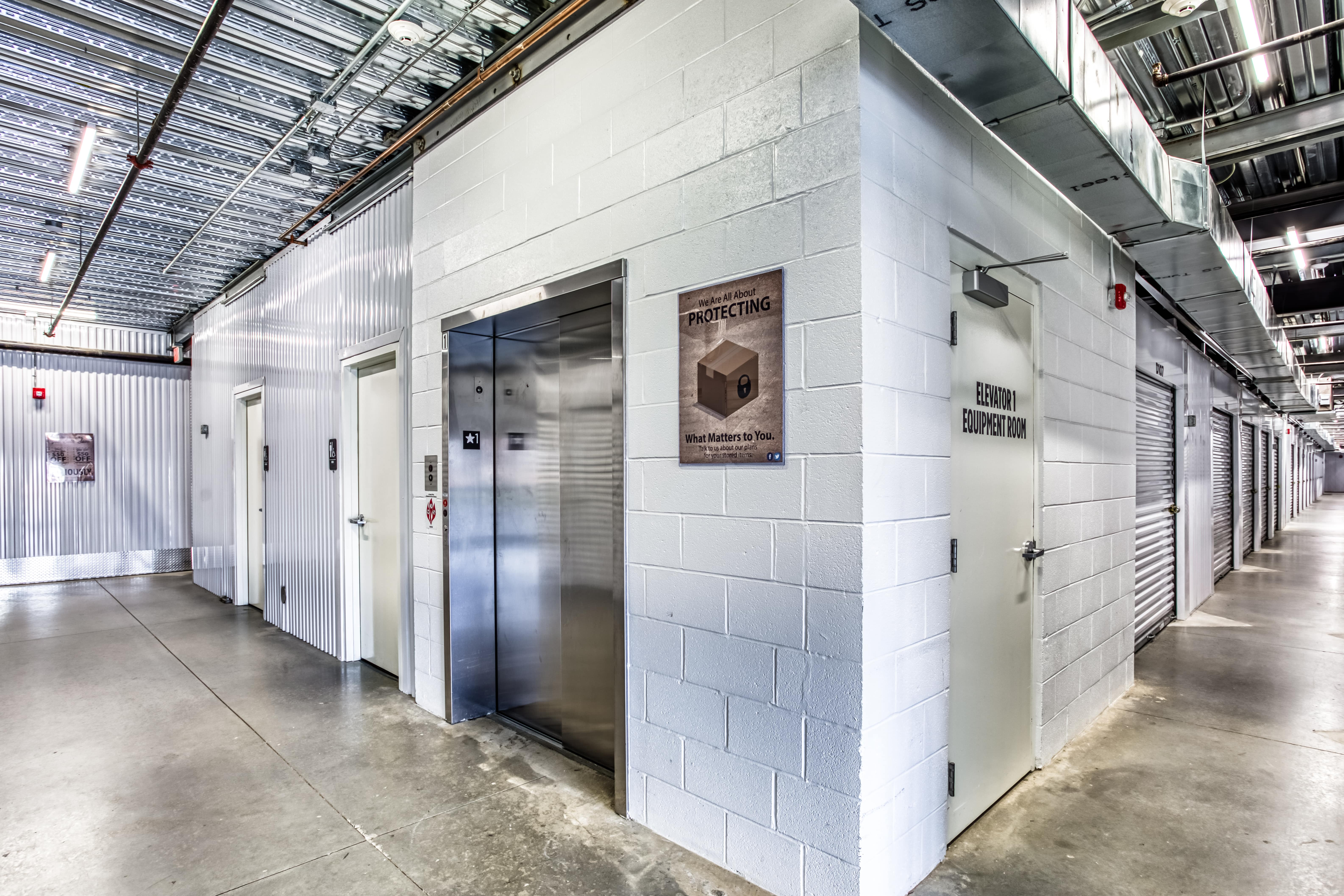 Elevator Access at Better Boxes Self Storage