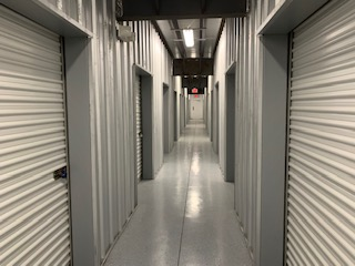Inside climate controlled storage in Palm Coast, FL