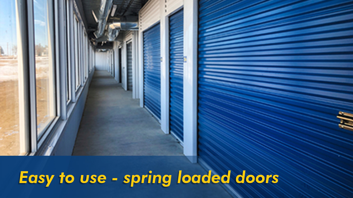 Easy to use spring loaded doors