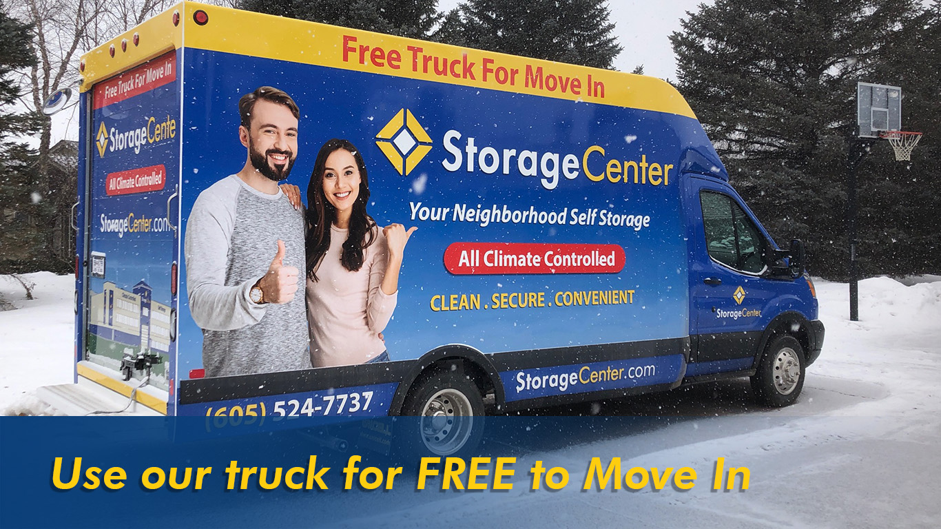 Use our truck for Free to move in