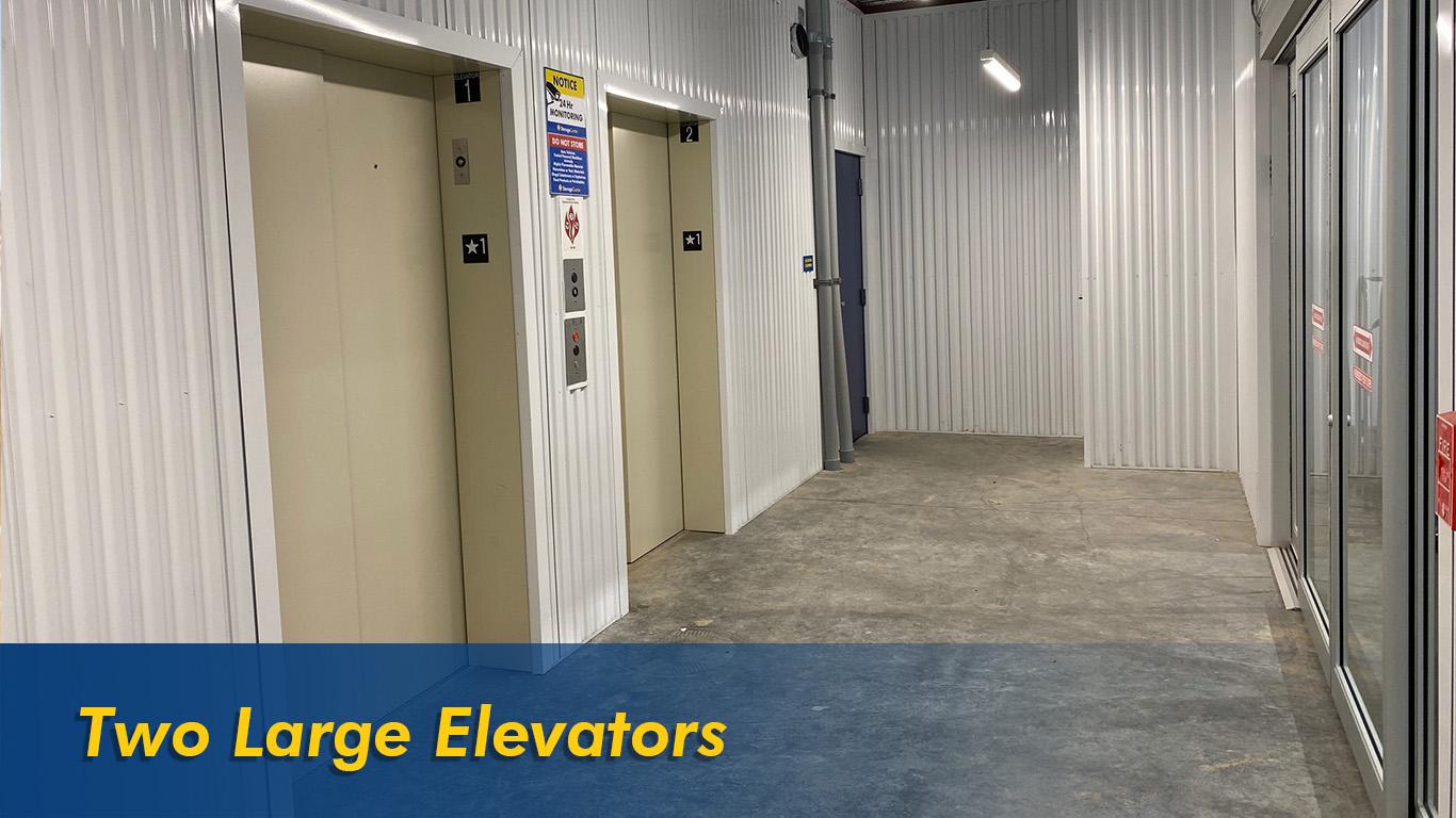 Two Large Elevators