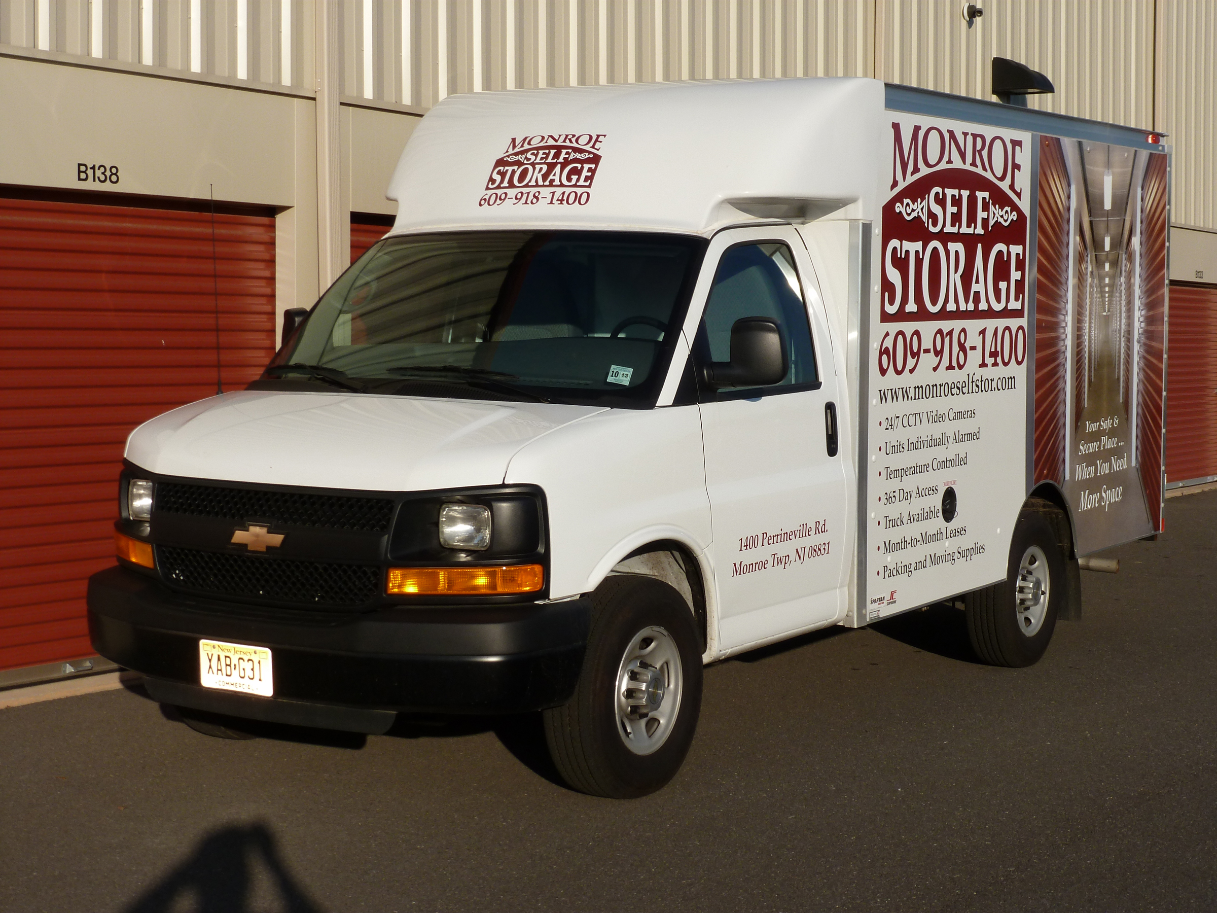 Moving truck available at Monroe Self Storage in Monroe Township, NJ