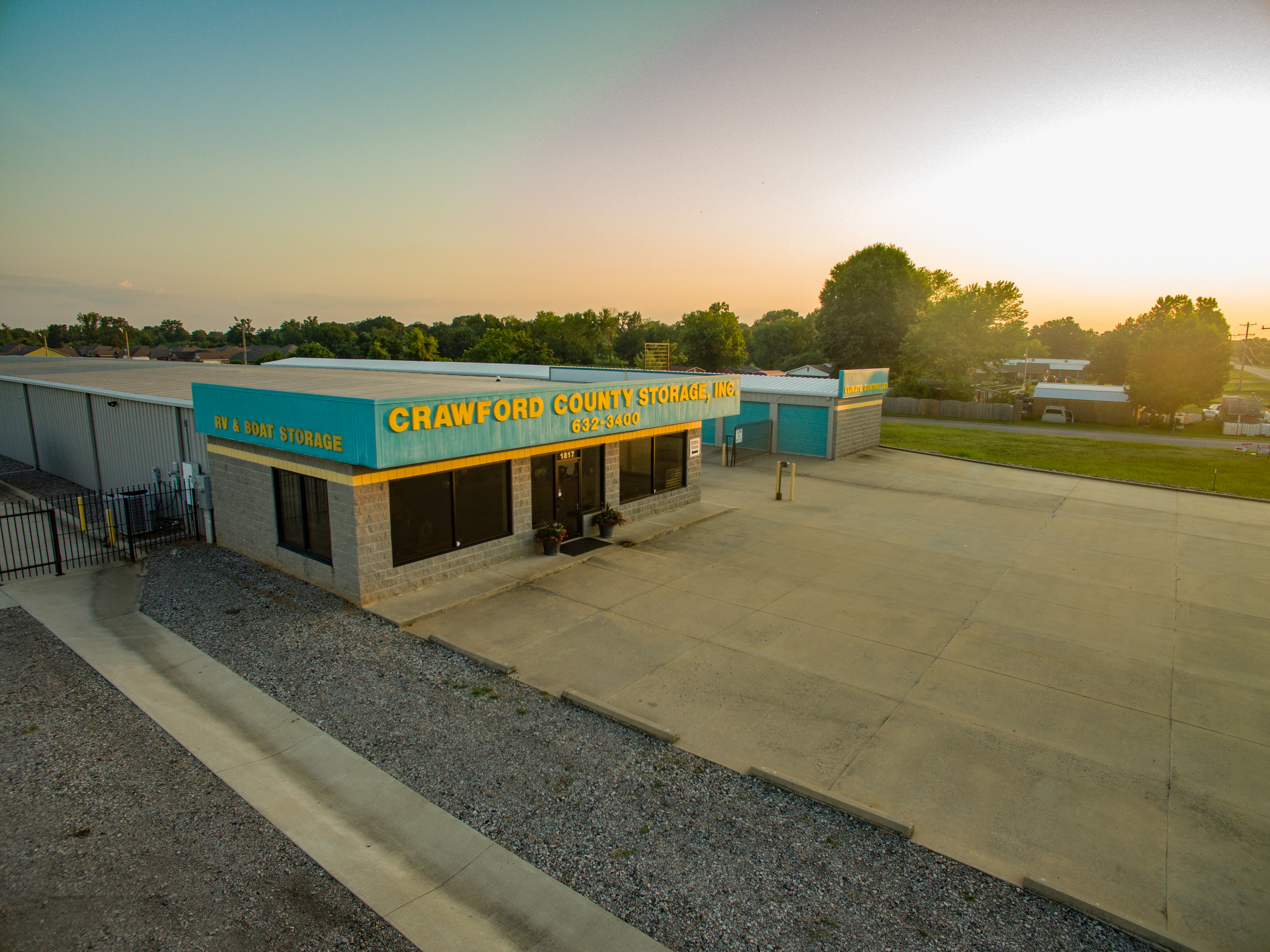 Crawford County Self Storage facility front