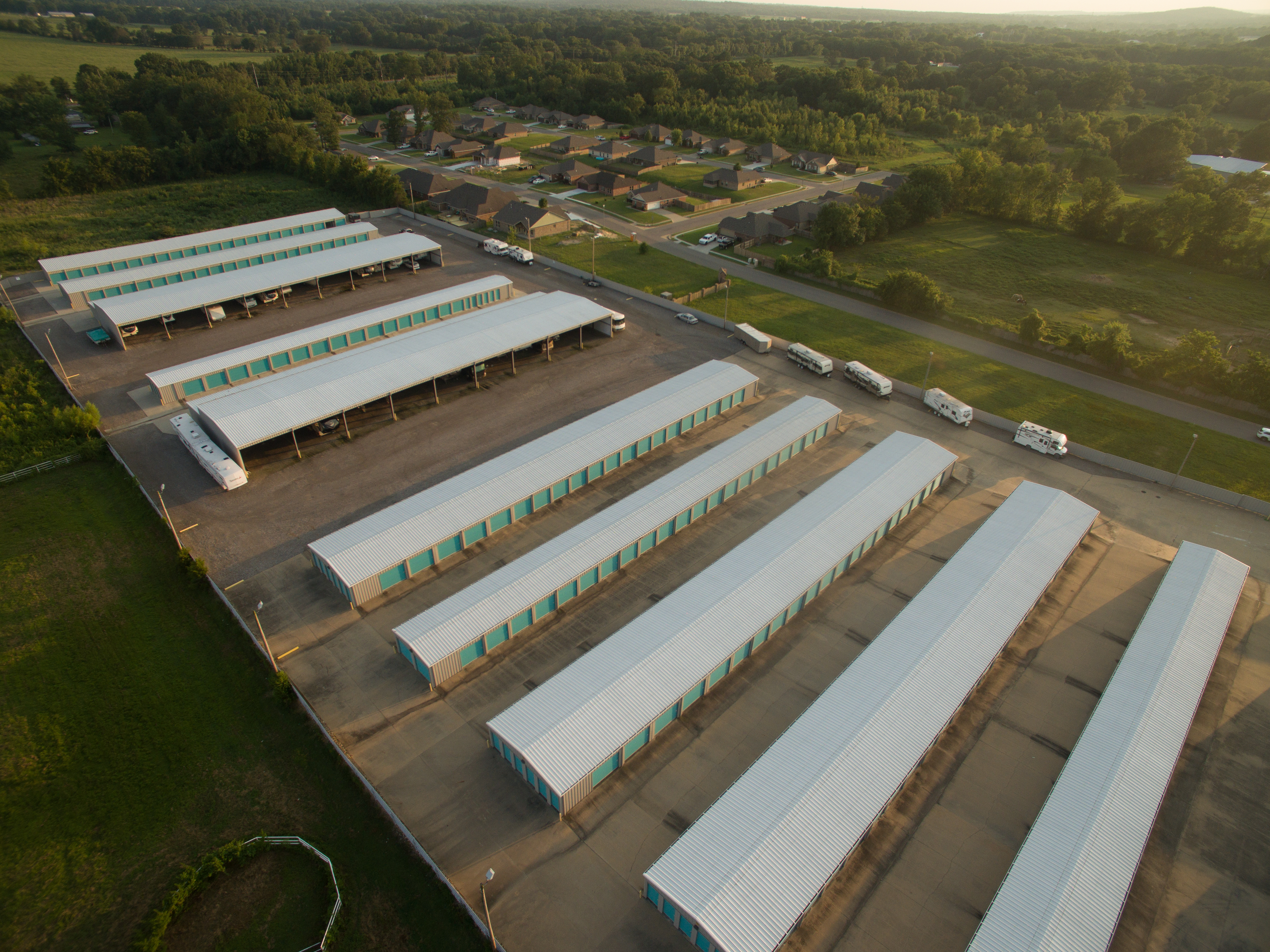 aerial view of crawford county storage