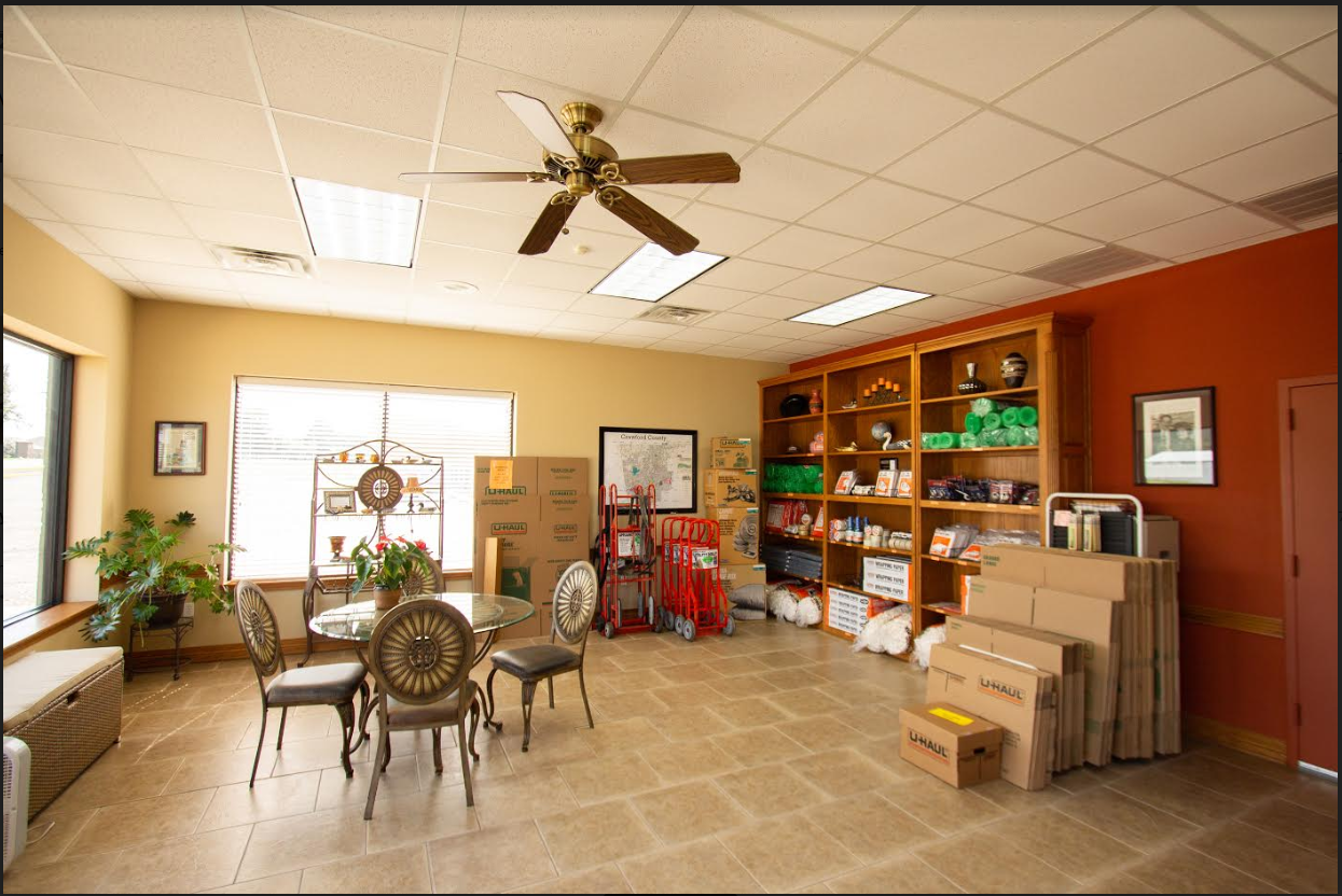 office interior crawford county storage