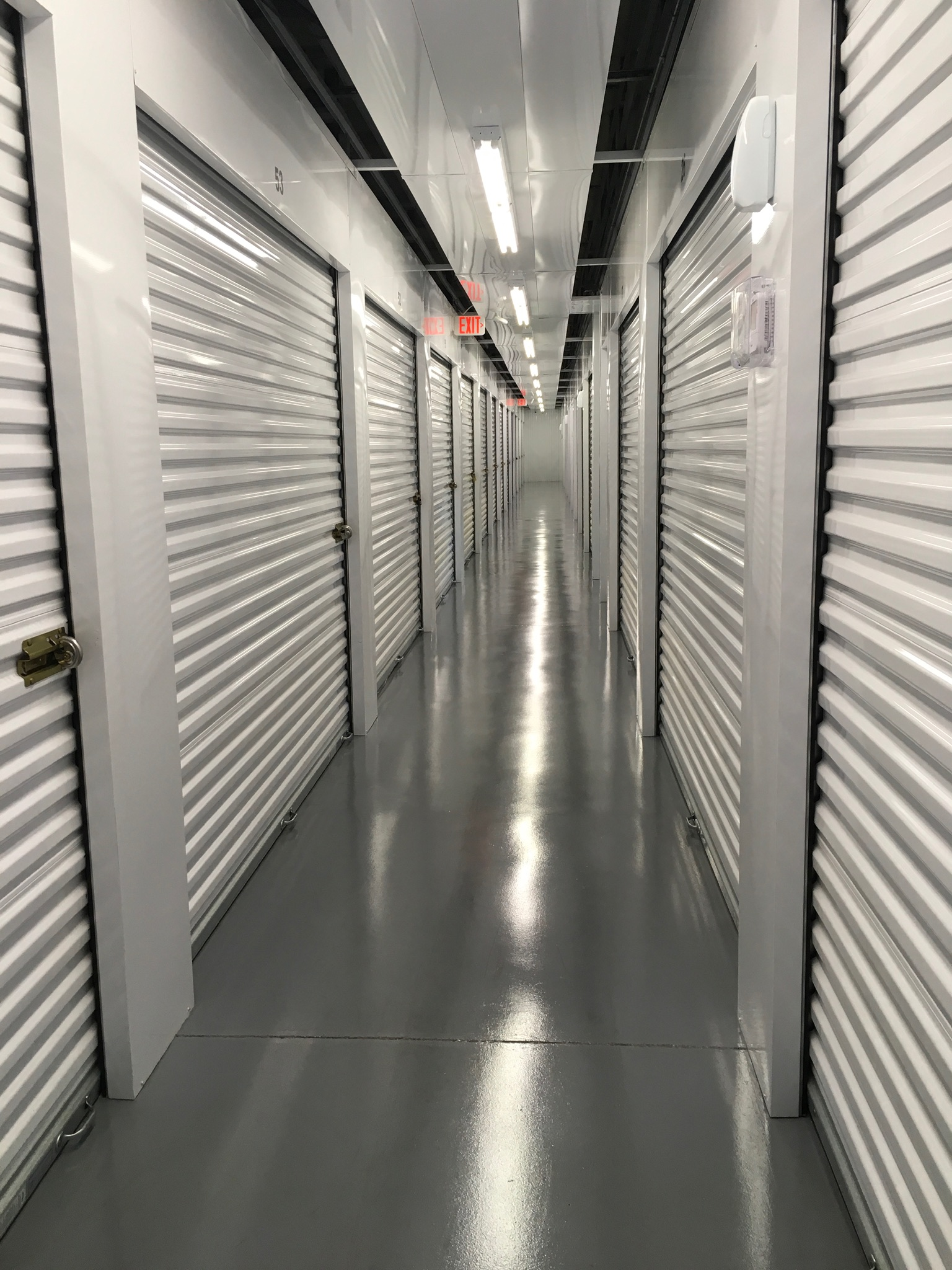 hallway inside climate control storage building