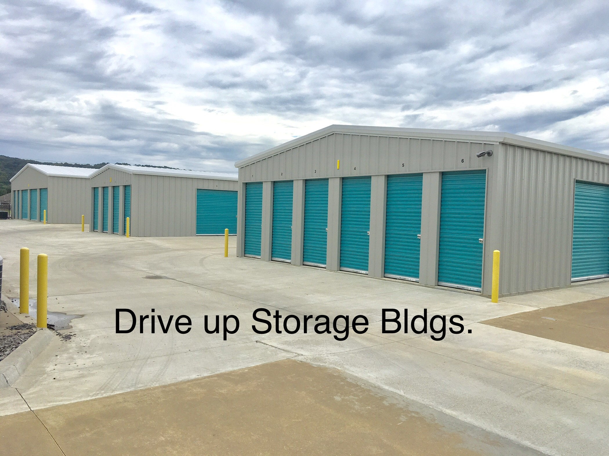 drive up access to all storage buildings
