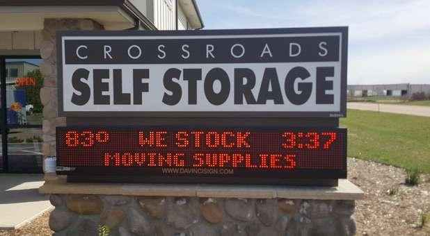 Crossroads Self Storage signage
