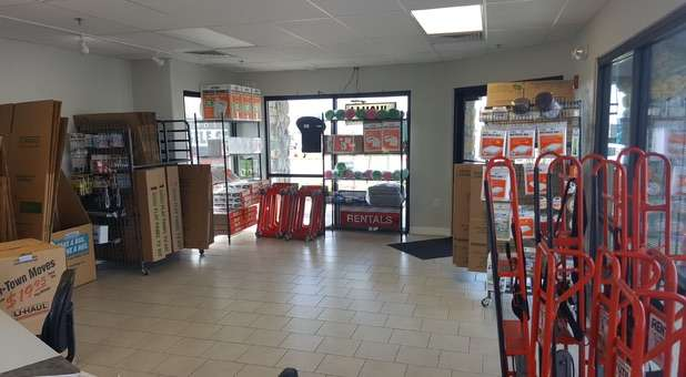 moving supplies, boxes, and dollies available at Crossroads Self Storage