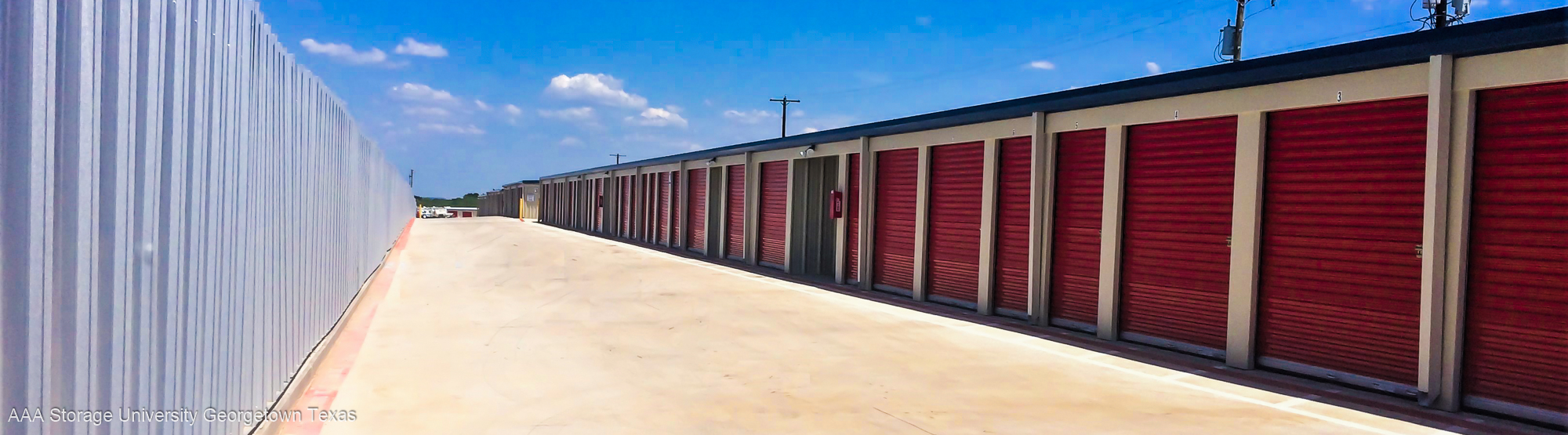 Georgetown drive-up self-storage units