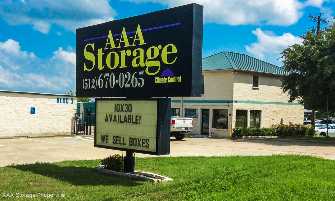 AAA Storage Office in Pflugerville Texas
