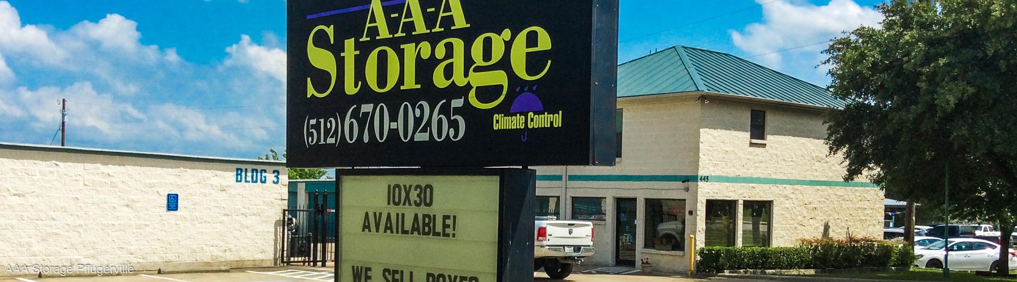 AAA Storage in Pflugerville Texas