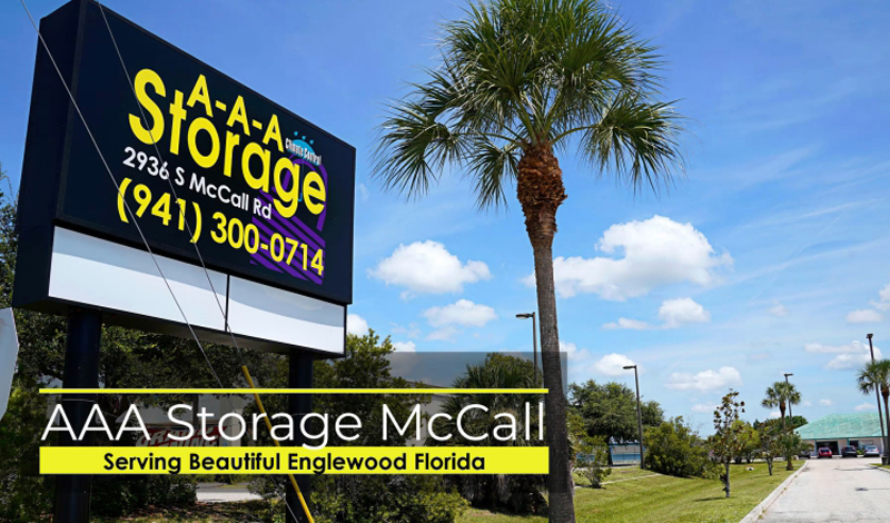 Englewood Florida drive-up Self Storage Units. Load from truck to Unit.