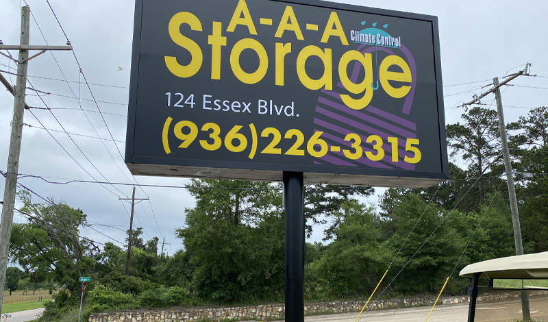 AAA Storage facility on 124 Essex Blvd - Huntsville, TX