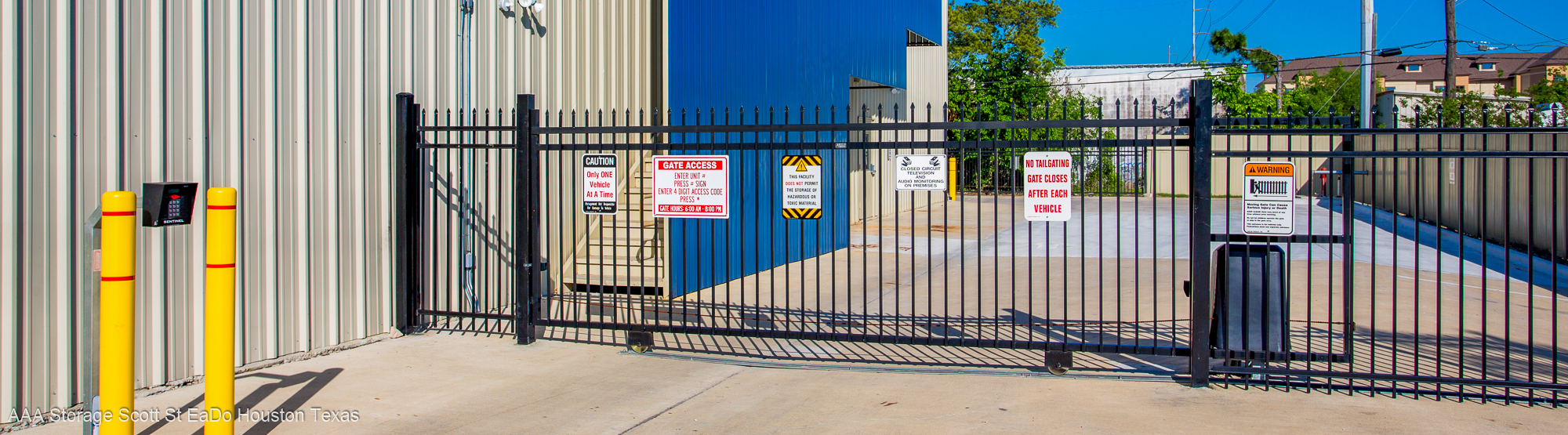 Security is First at AAA Storage in Eado Houston TX