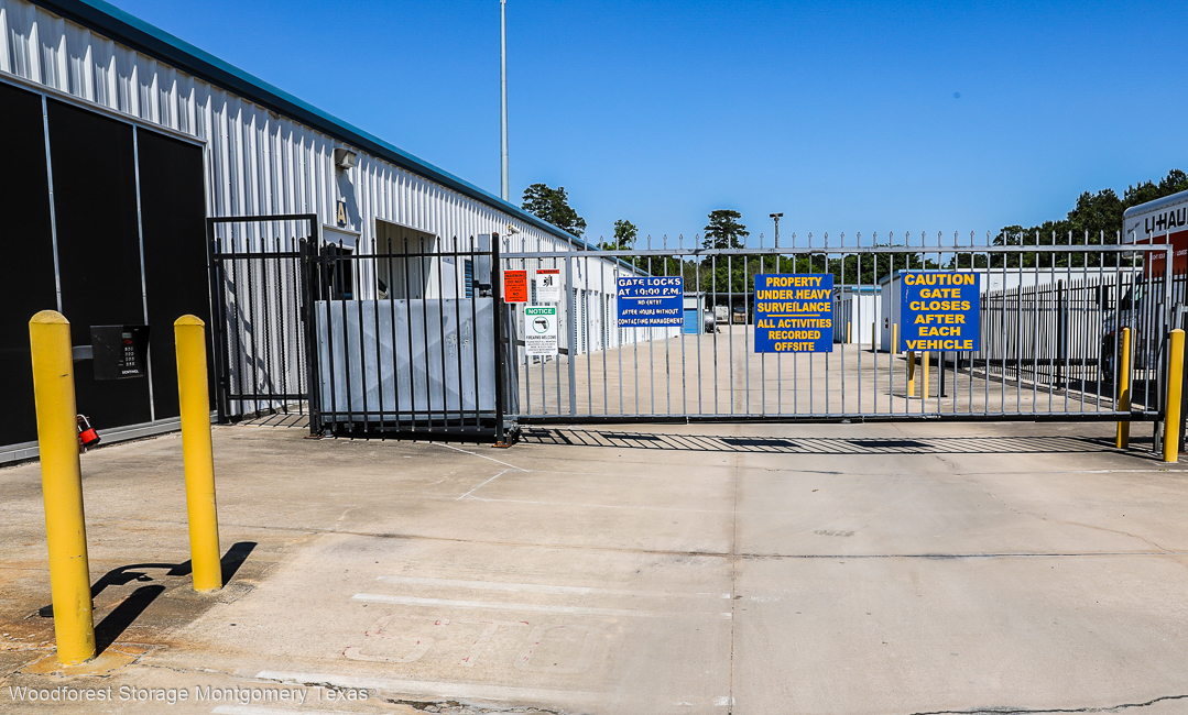 Security is Our Priority at Woodforest Storage in Magnolia TX