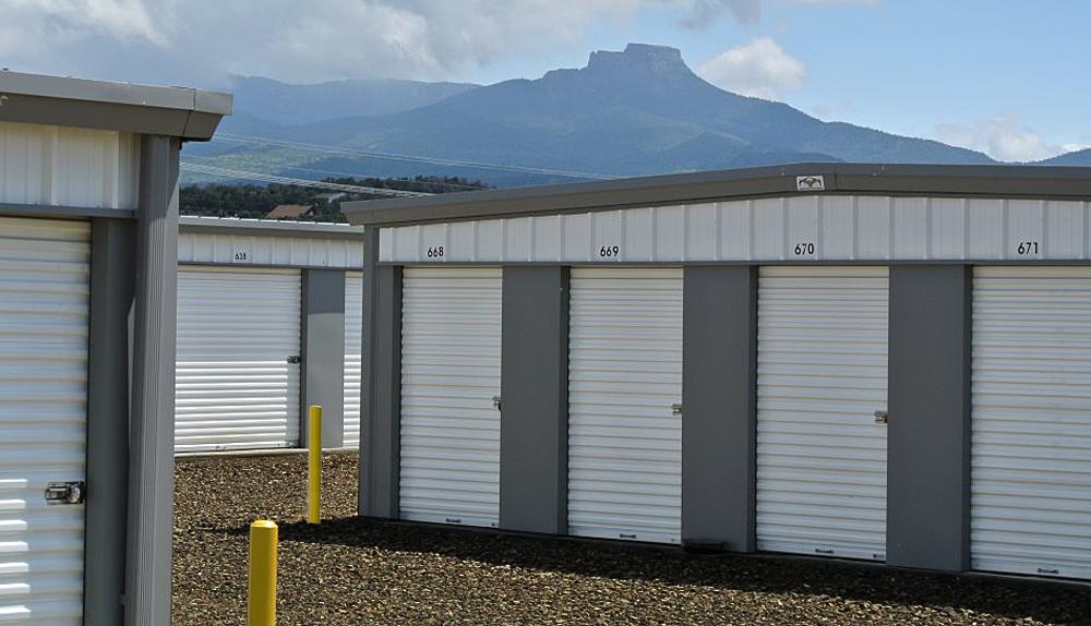 Row of storage units in Trinidad, CO
