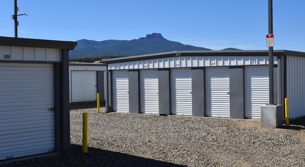 Row of storage units at A to Z Self Storage
