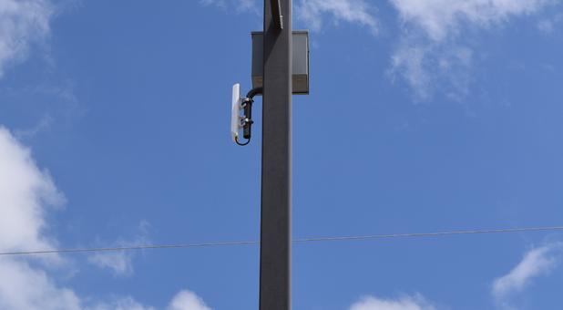 Light pole at A to Z Self Storage