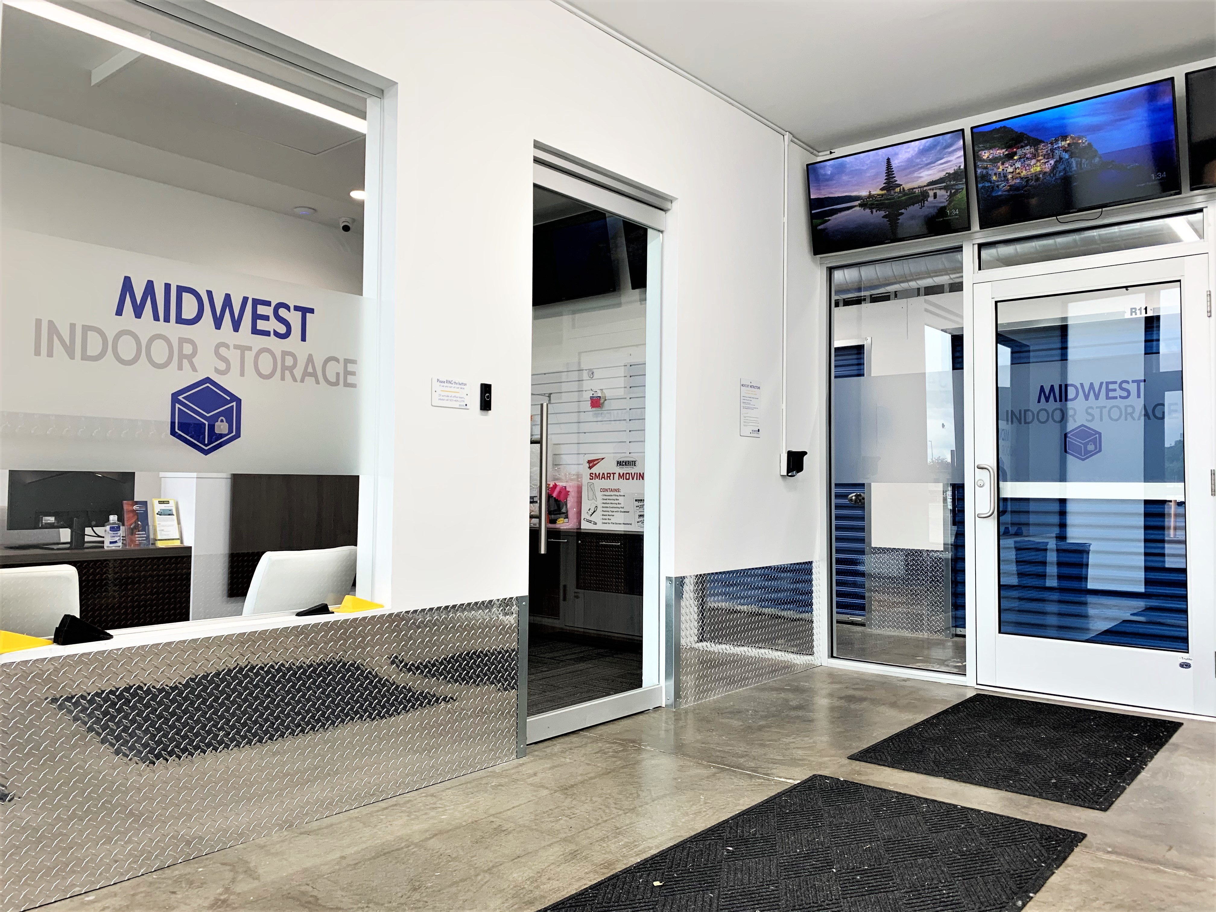 front entrance and office to midwest indoor storage