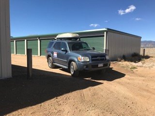 vehicle parked in front of storage unit in Buenva Vista, CO