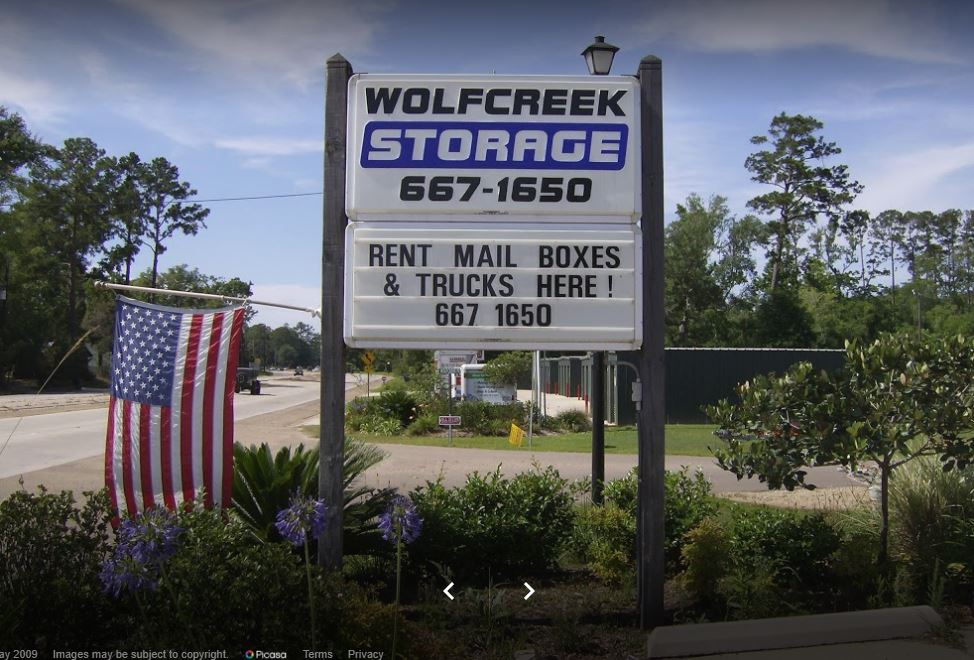 Wolf Creek Storage Signage