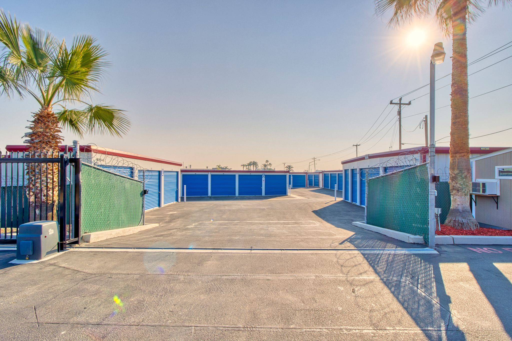 fenced and gated facility