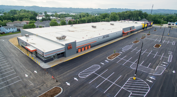 Overhead view of storage facility in New Albany, IN