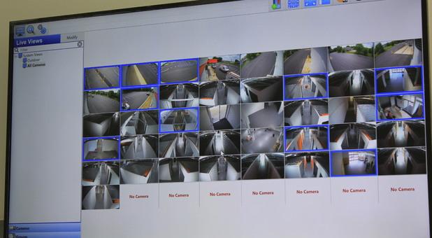 Security camera feeds for Arc Storage units