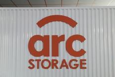 Arc Storage logo on wall