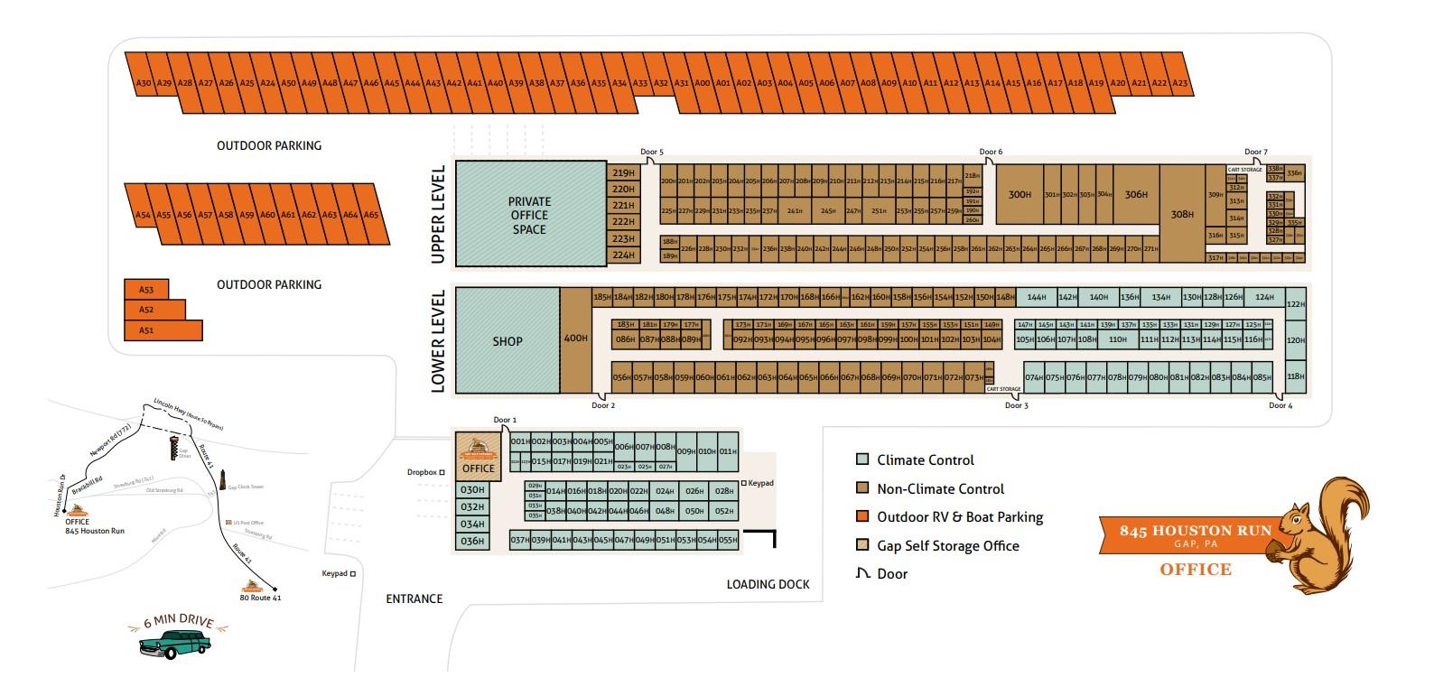 facility map - houston run