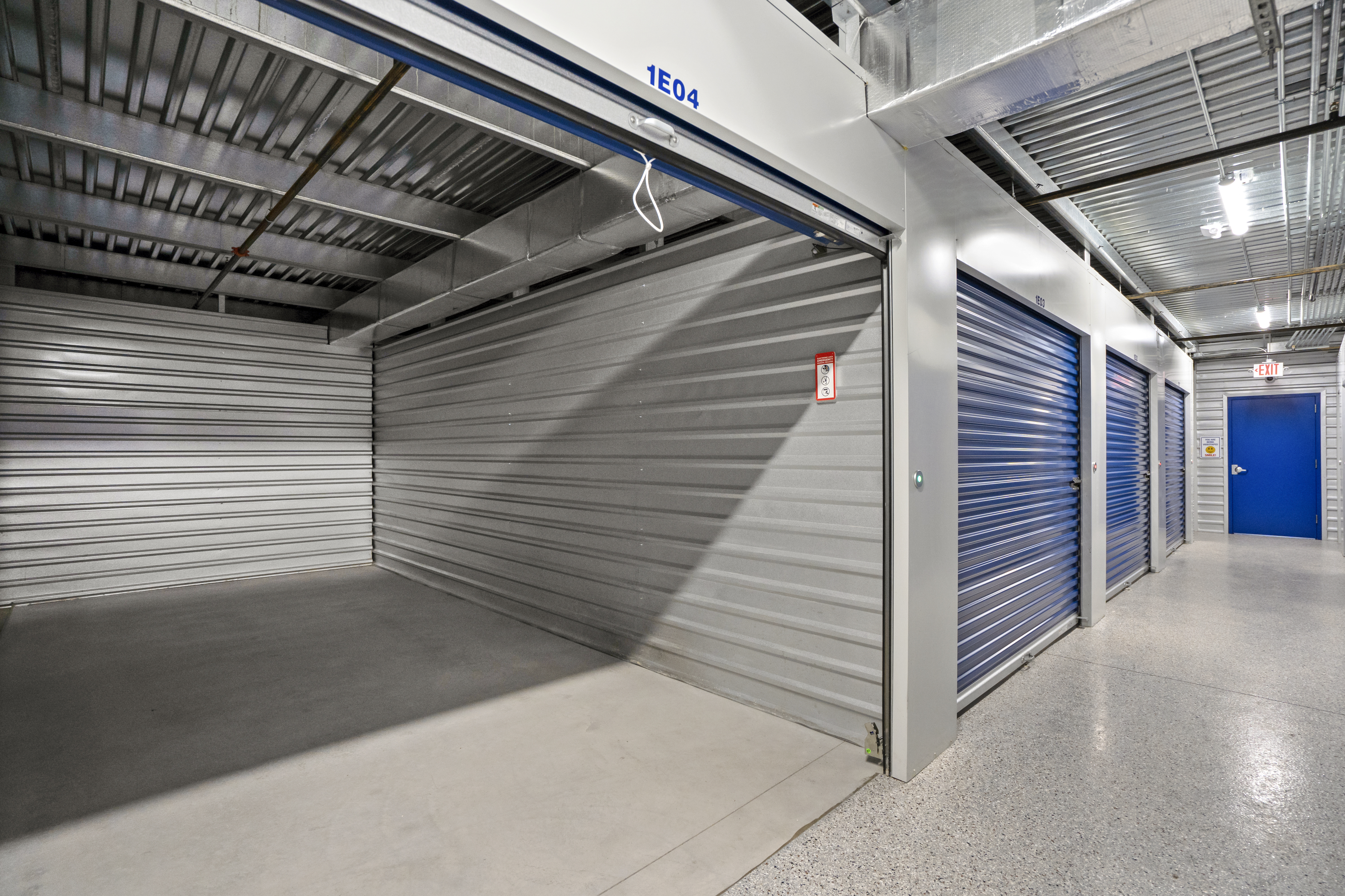 large interior storage unit with door open