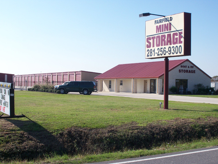 faifield storage front entrance and sign