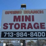 spring branch mini storage front sign