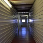 hallway with interior storage units