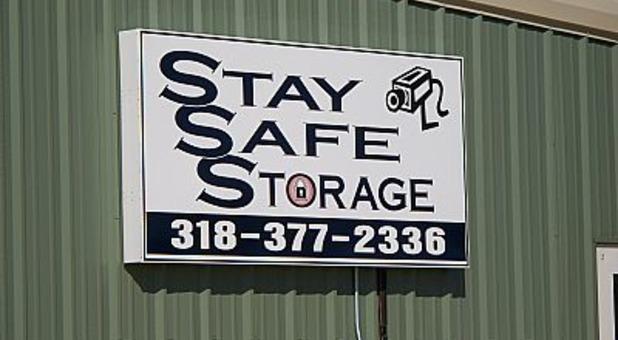 Stay Safe Storage sign