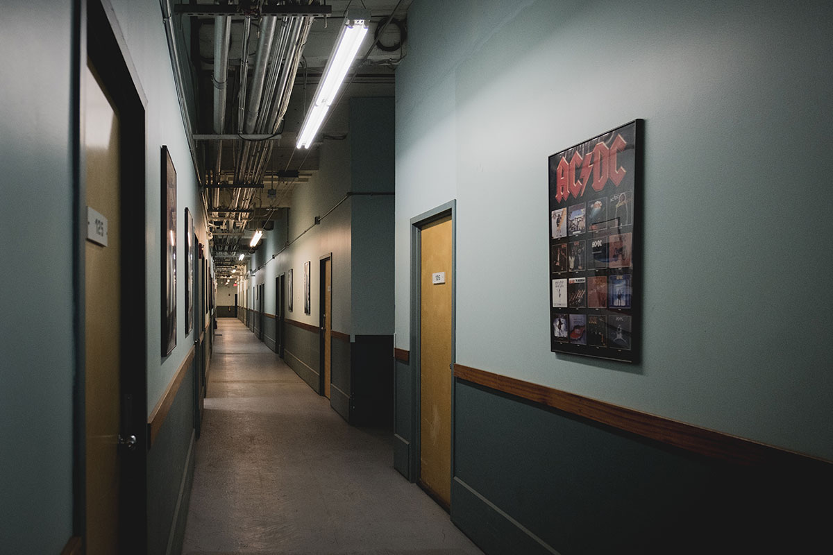 Morgan Storage Rehearsal Space Hallway