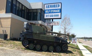 Armored Self Storage Tank on Western Center Blvd
