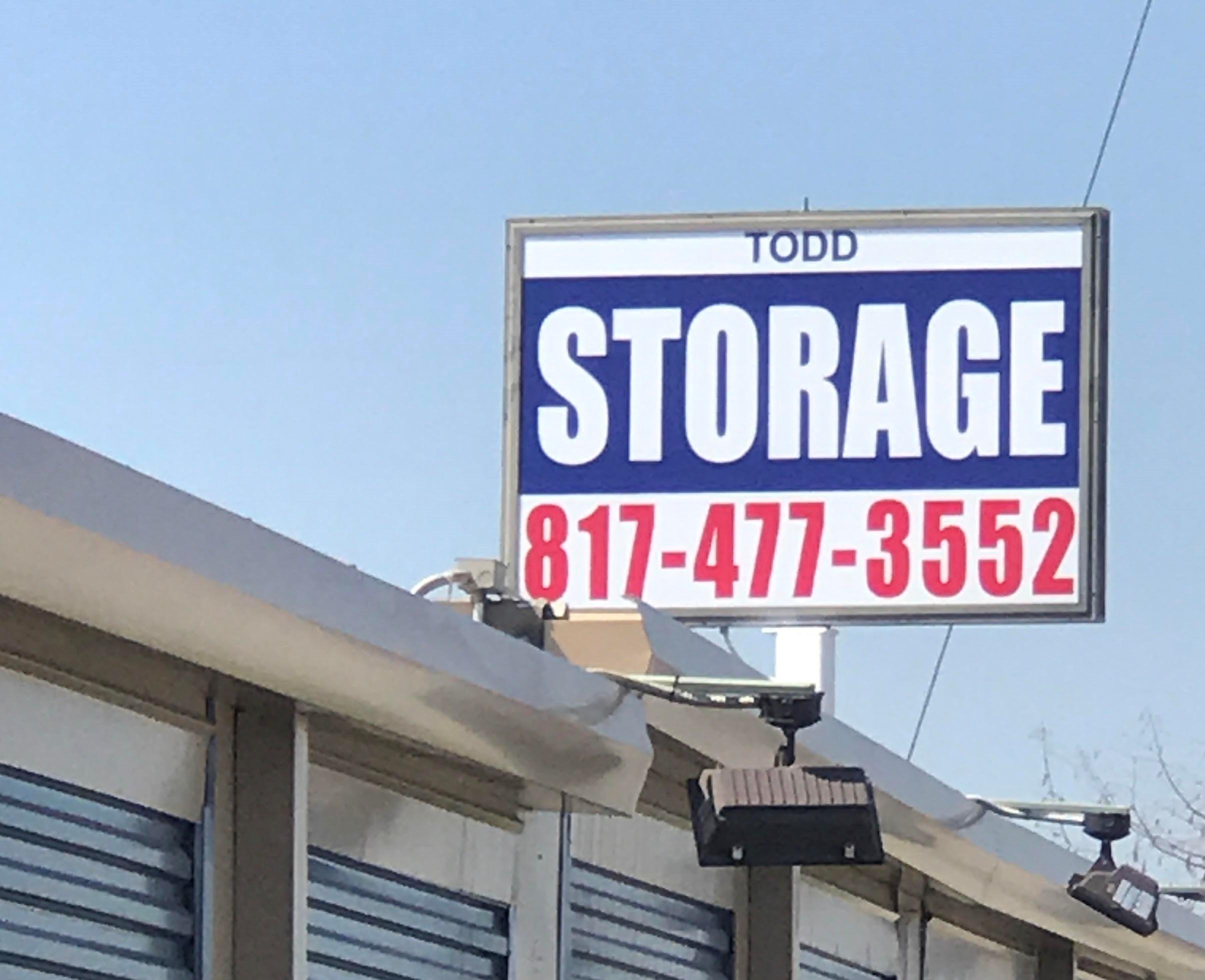 Todd Self Storage sign
